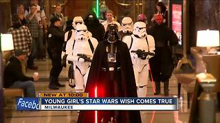 Young cancer survivor's Star Wars wish comes true in Milwaukee