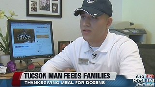 Local man feeds 20 families this Thanksgiving - Video