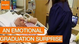 Loving Grandma Receives Emotional Graduation Surprise In Hospital - Video