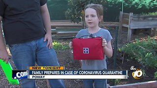 Poway family prepares for Coronavirus quarantine