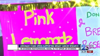 Lemonade Stand Supports Breast Cancer Research
