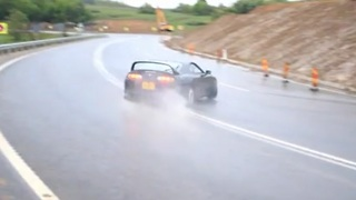 Unbelievable drifting skills up a mountain road