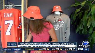 Broncos fans prepare to show pride, attend training camp - Video