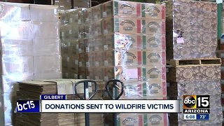 Donations being accepted to send to California wildfire victims - Video