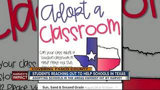 Pasco schools collect donations to help adopted Houston schools impacted by Harvey - Video