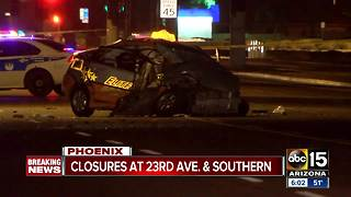 Man hospitalized after serious wreck in Phoenix - Video