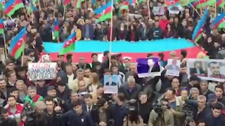 Hundreds Attend Anticorruption Rally in Azerbaijan Capital of Baku - Video