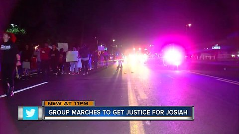 Protesters march to demand justice for 15-year-old killed by deputy while crossing street