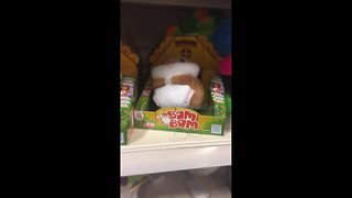 Bizarre bouncing hamster toy baffles shoppers - Video