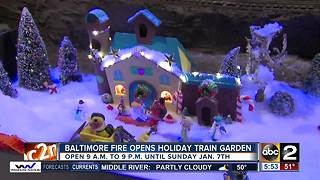 Baltimore Fire opens their Holiday Train Garden - Video