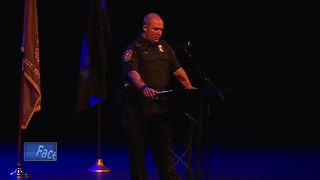 Injured officer shares his story with members of law enforcement - Video