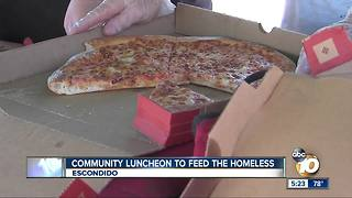 Community luncheon to feed Escondido homeless - Video