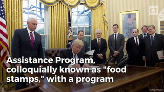 Trump Admin Announces Massive Plan To Replace Food Stamps - Video