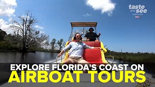 Explore Florida's nature coast on an airboat tour | Taste and See Tampa Bay