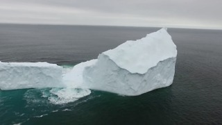 Aerial View of Iceberg in Newfoundland - Video