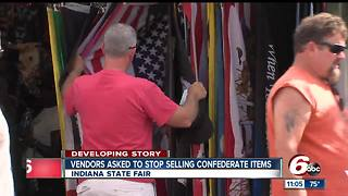 Indiana State Fair asks vendors to stop selling Confederate items - Video