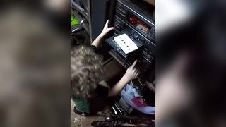 """""""Toddler Gets Confused By CD Player"""""""