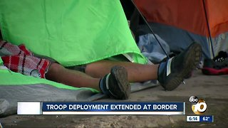 Troop deployment extended at US-Mexico border
