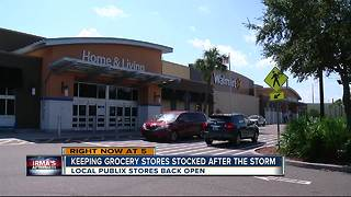 Keeping grocery stores stocked after the storm - Video
