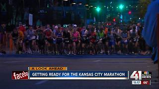 Getting ready for the Kansas City Marathon - Video