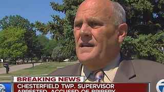 Chesterfield Township supervisor arrested, accused of bribery - Video