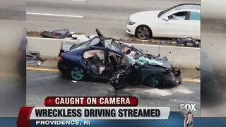 Man FB live w wreckless driving - Video