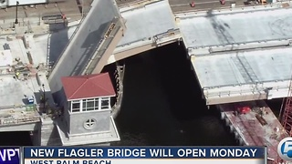 New Flagler Bridge expected to open Monday - Video