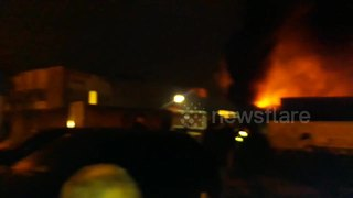 Huge warehouse blaze in White Hart Lane, Tottenham