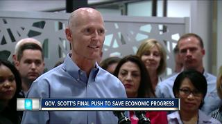 Gov. Scott's final push to save economic progress - Video