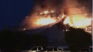 Anchor Glass Plant Fire Sends Smoke Plumes Rising Above Henryetta - Video