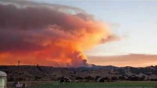 Timelapse of Loma Fire From South San Jose - Video