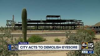 City takes action to demolish eyesore property - Video