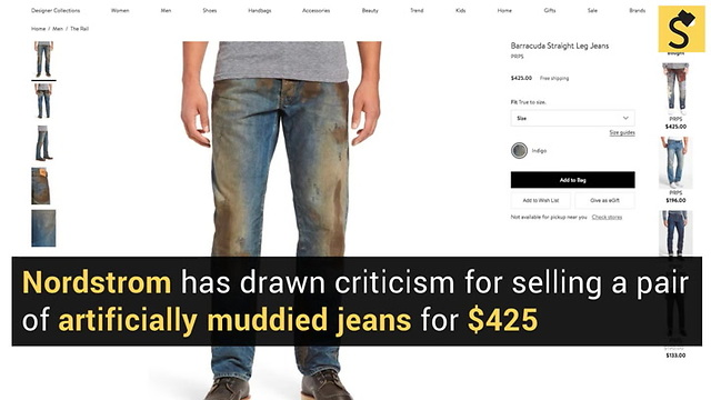 90d2e48a31 Nordstrom Draws Ire With  425  Muddy  Jeans