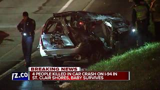 4 people killed in car crash on I-94 in St. Clair Shores - Video