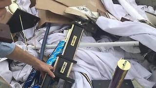 Marching Band Trophies Thrown Into Dumpster - Video