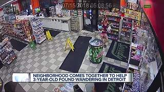 3-year-old found wandering the streets on Detroit's east side - Video
