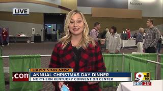 Annual Christmas Day Dinner at Northern Kentucky Convention Centero - Video