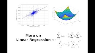 More on Linear Regression