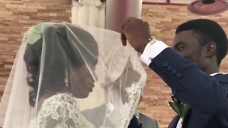 Groom Lifts the Bride's Veil to Kiss Her — But This Clip of His Reaction Has Now Gone Viral - Video