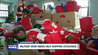 Military mom needs help getting 5,000 Christmas Stockings overseas - Video