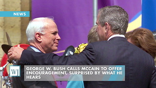 George W. Bush Calls McCain To Offer Encouragement, Surprised By What He Hears - Video
