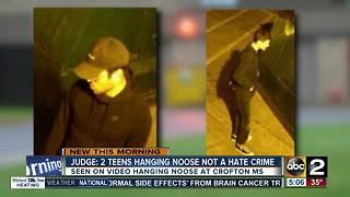 Judge says teens hanging noose not a hate crime - Video
