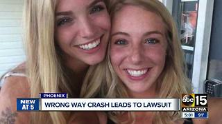 Wrong-way crash in Phoenix leads to lawsuit - Video