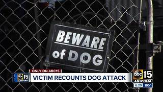Woman speaks out after being attacked by dogs in Phoenix - Video