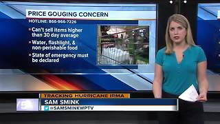 Hurricane Irma: Price gouging concern