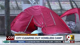 Tent camp moving from Third Street - Video