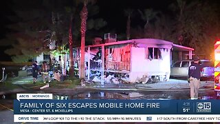 Family escapes fire at Mesa mobile home