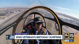 WWII veteran gets special birthday surprise thanks to local charity