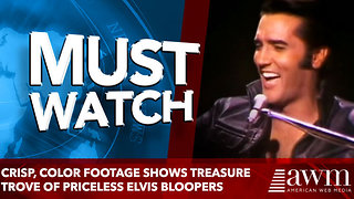 Crisp, color footage shows treasure trove of priceless Elvis bloopers - Video