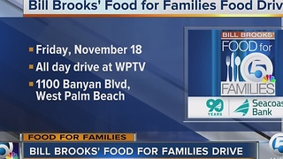 Bill Brooks' Food For Families Food Drive at WPTV on Friday - Video